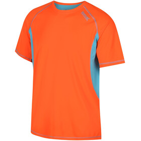 Regatta Volito III T-Shirt Men Shocking Orange/Atoll Blue